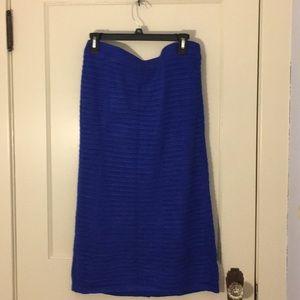 Eloquii 14/16 Blue Pencil Sweater Skirt